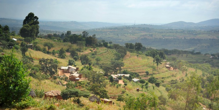 Scenery on the way to the Rift valley