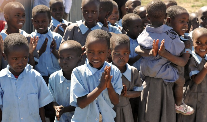 Maasai Children in the School yard