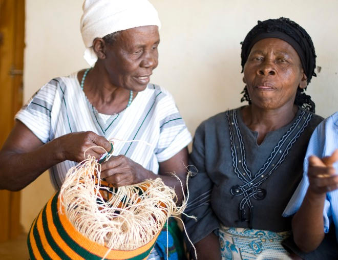 Traditional Basket weaving at Nyumbani Village