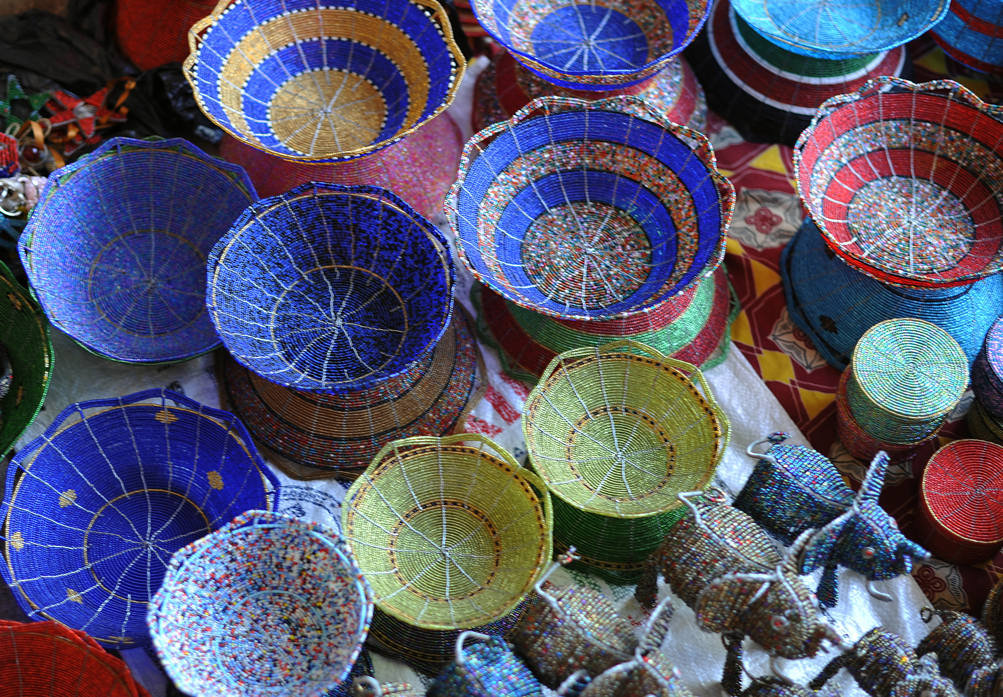 Some of the beaded products at Kangemi