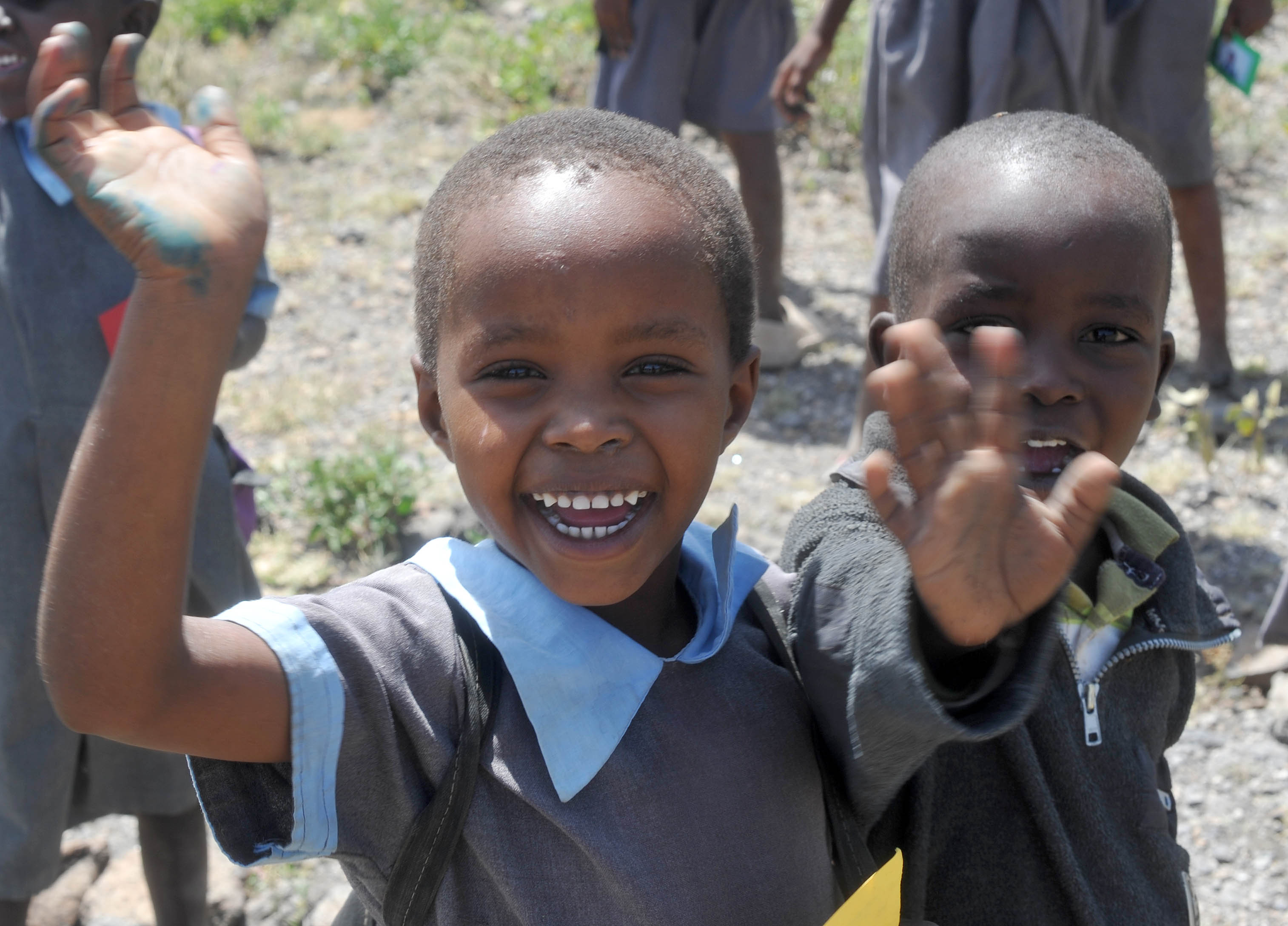 Greetings from the Maasai children