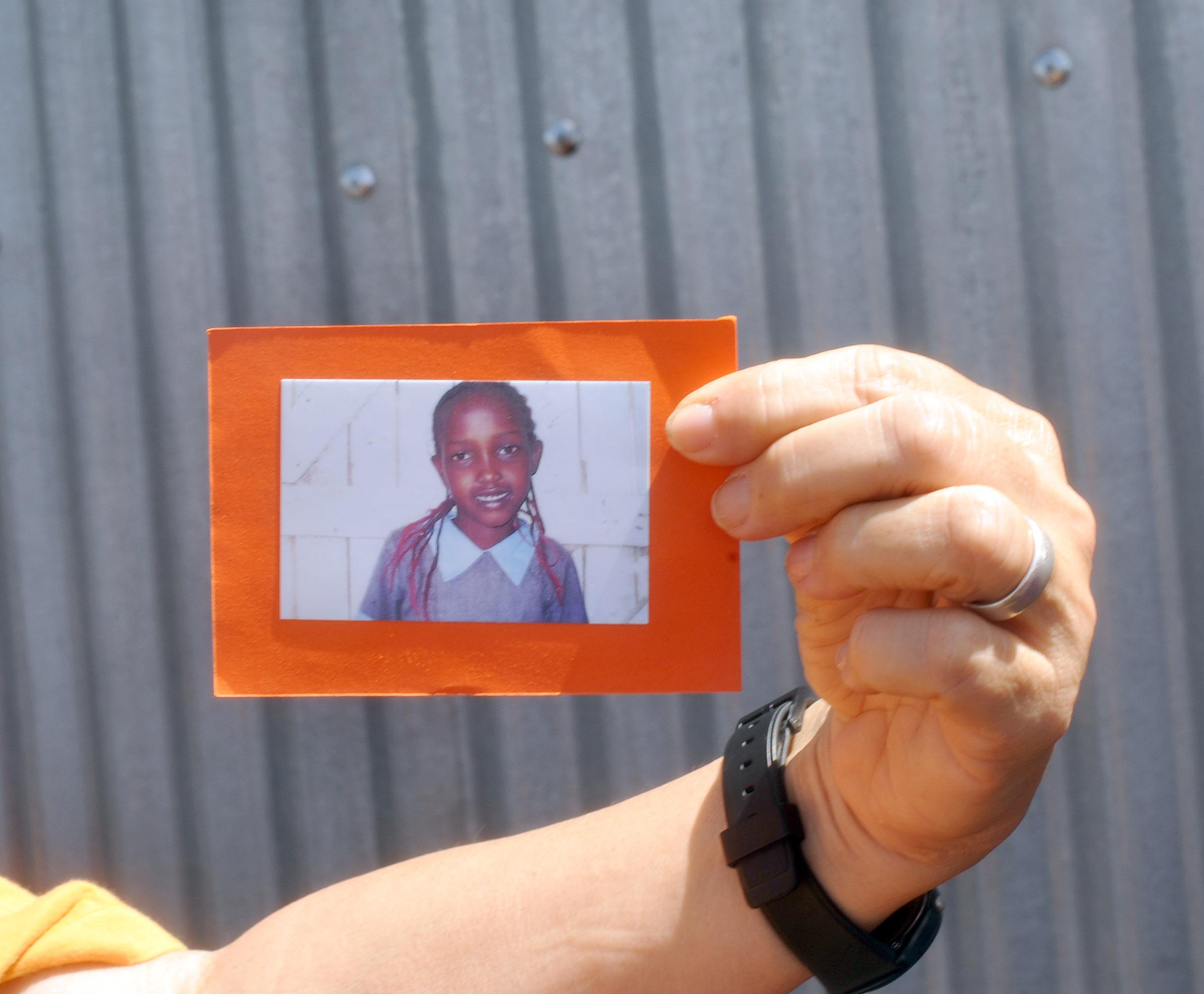 Example of a the nphotos taken of the Maasai children