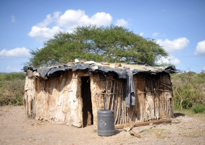 Typical boma or Maasai home