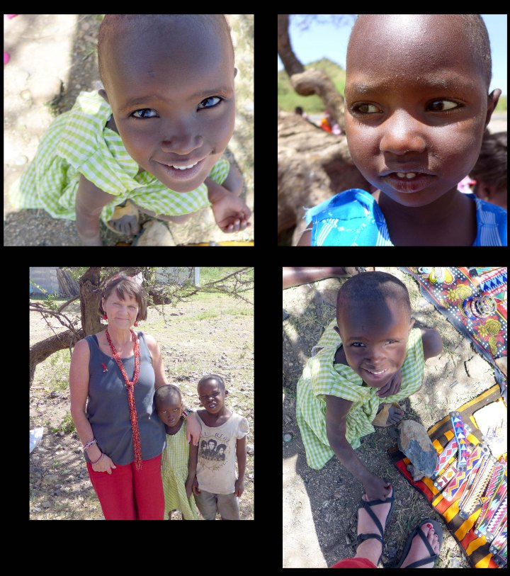 I enjoyed the Maasai children--especially sweet little Elizabeth who so wanted me to paint her toenails red too!