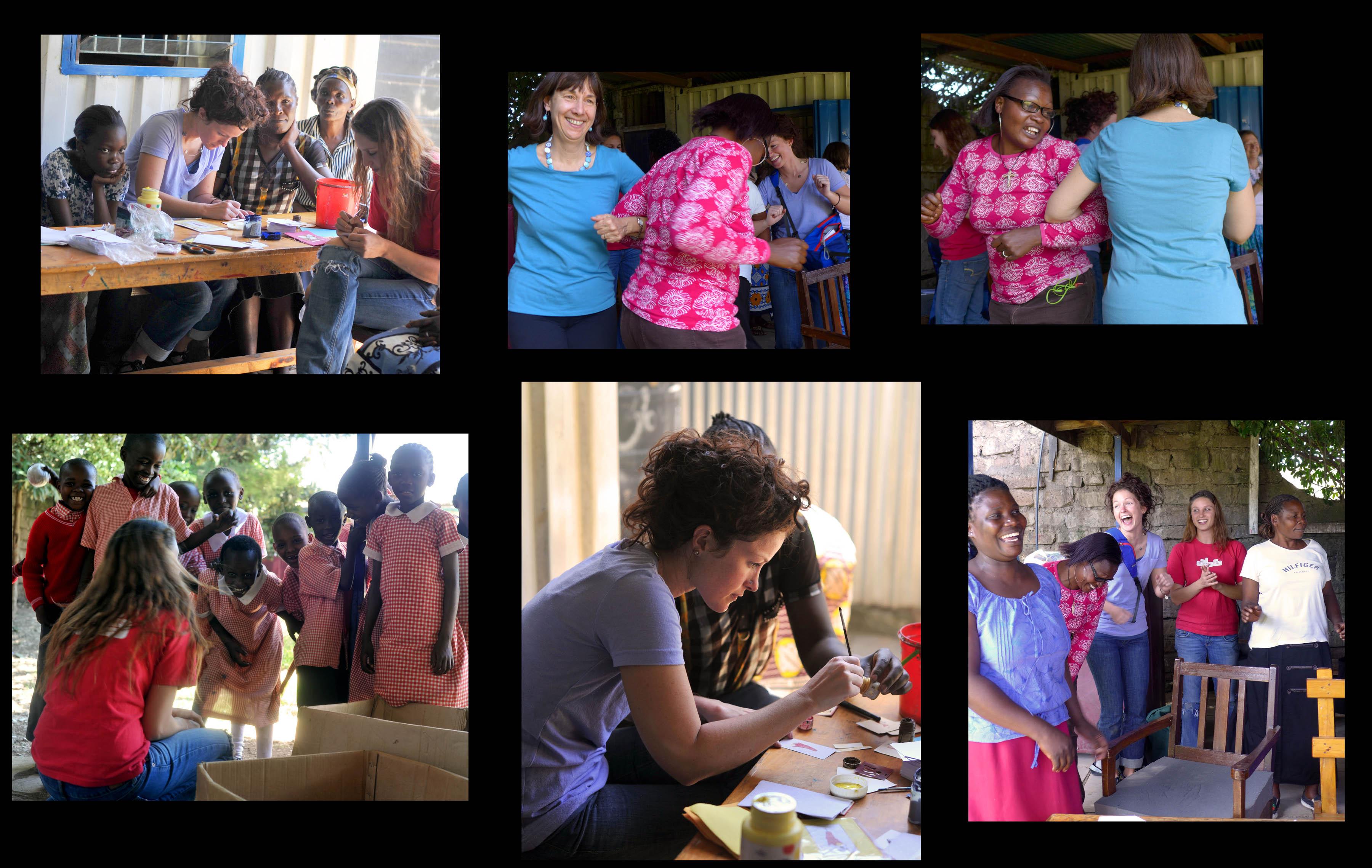 Making cards, dancing, singing at Kibera Paper