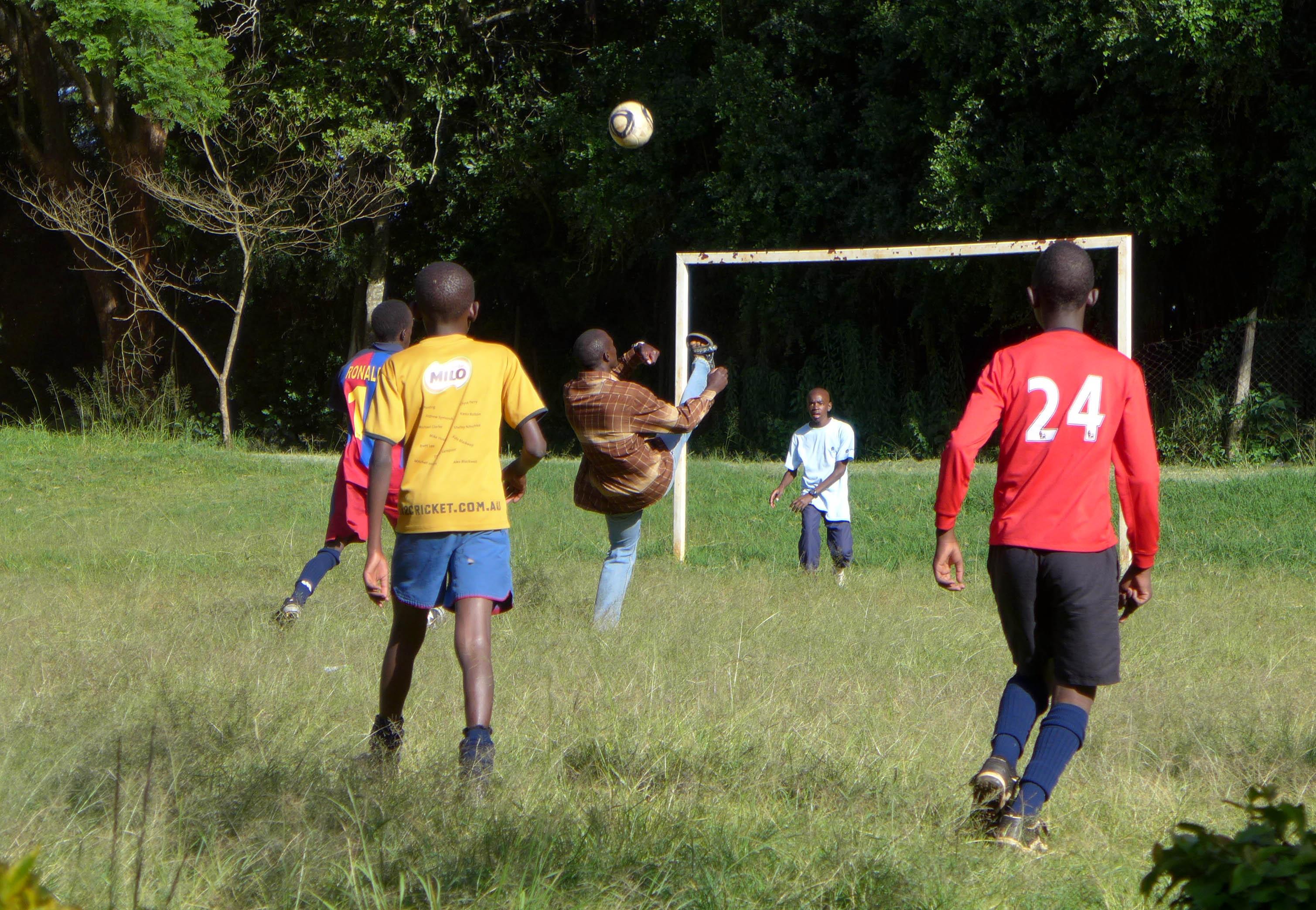 Boys football game