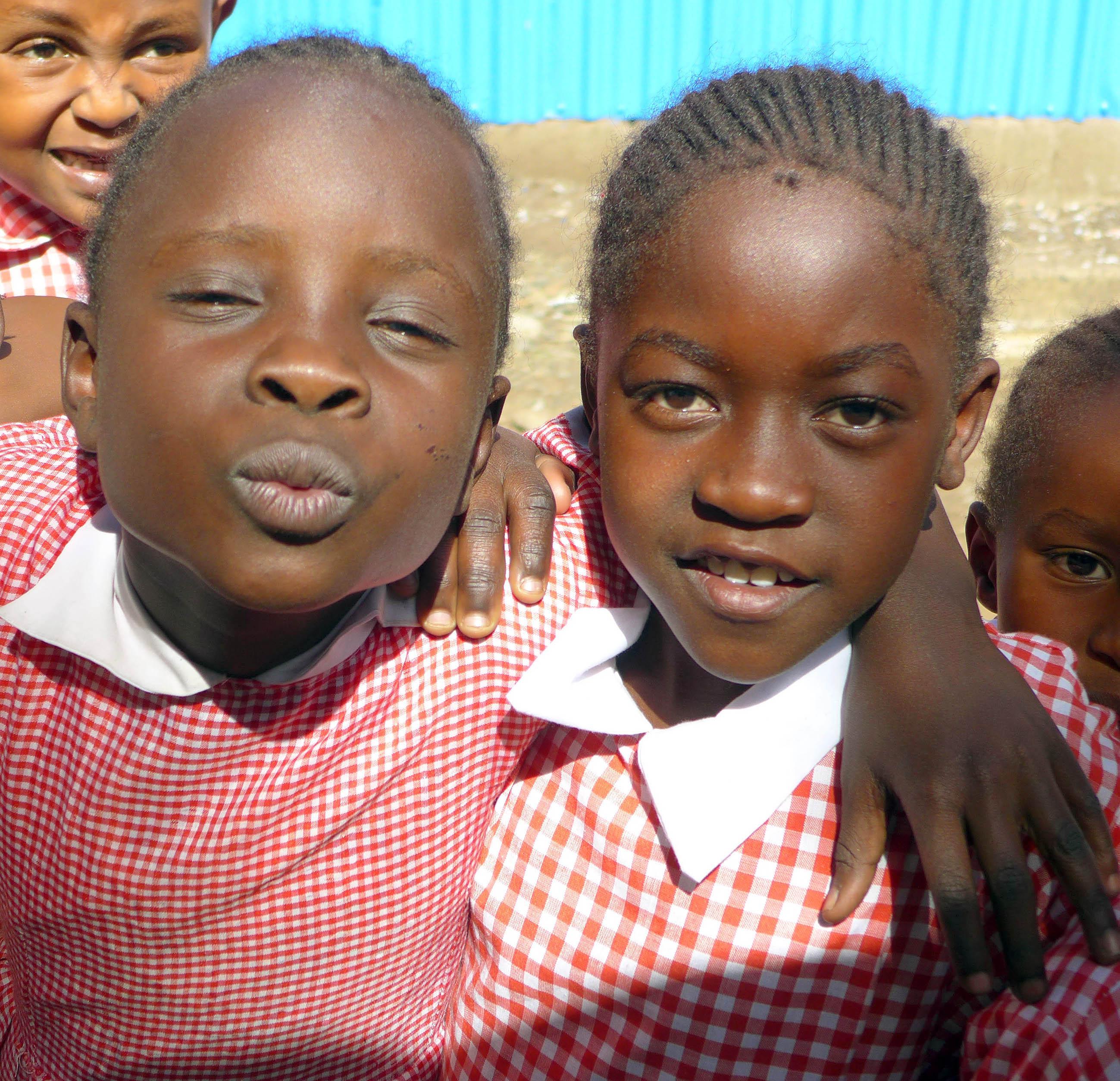 School children at the Kibera Paper location