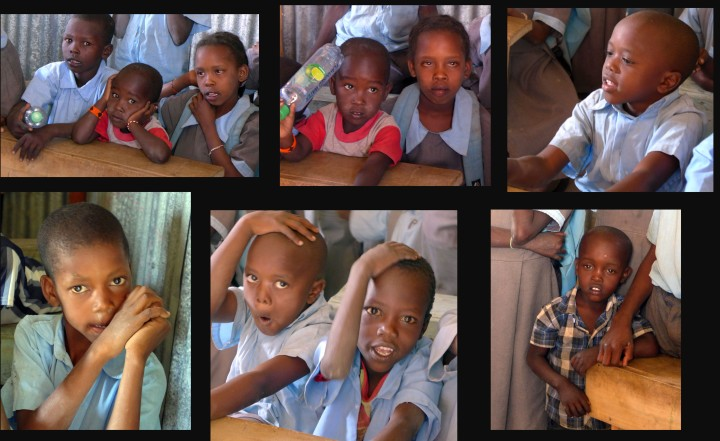 Maasai children in the classroom