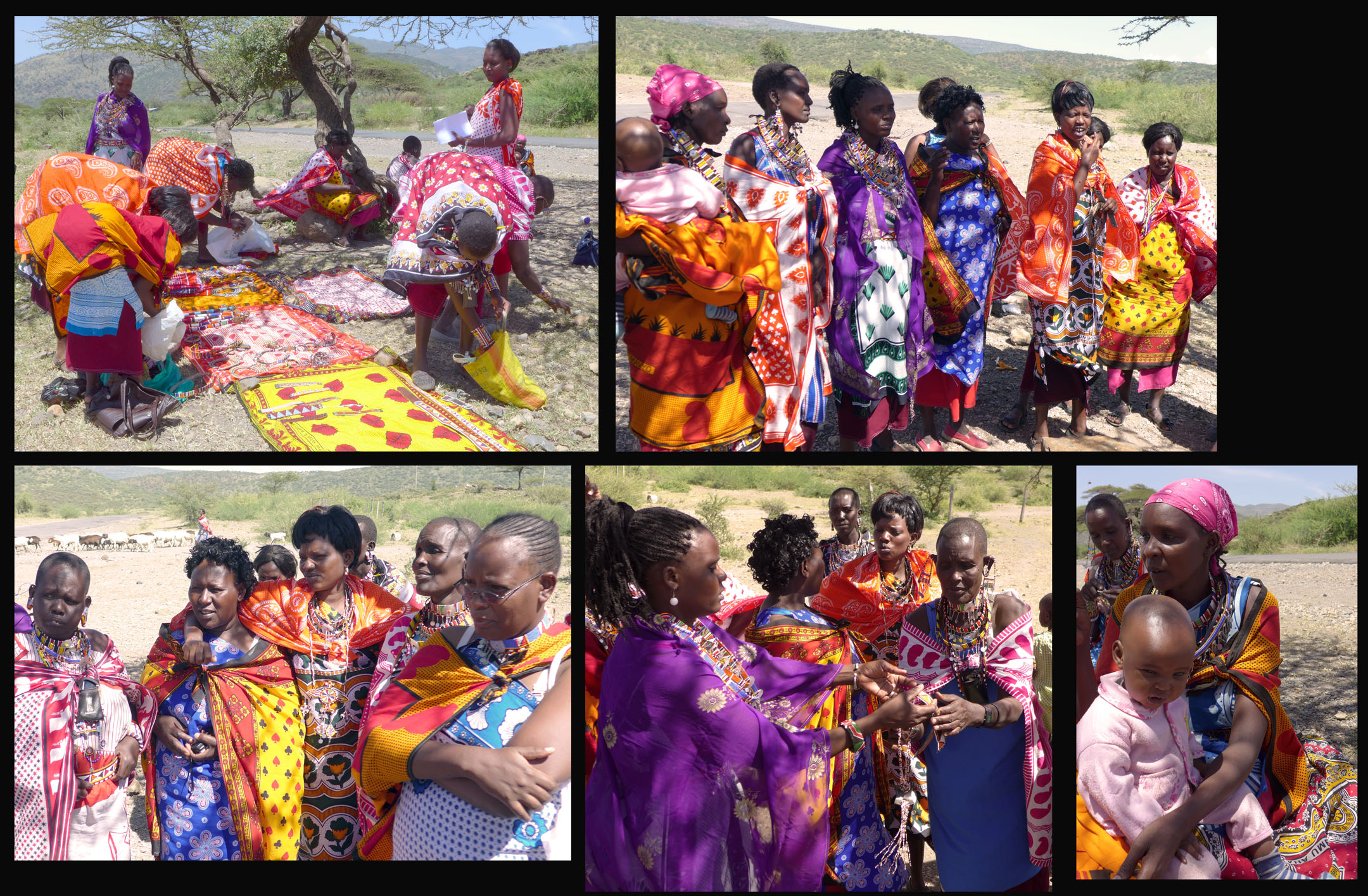Maasai women in their colorful clothes