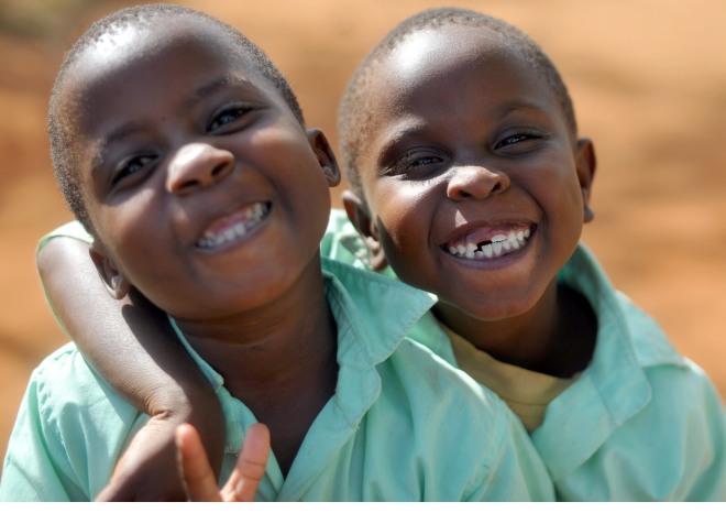 Many happy beautiful faces at Nyumbani Village