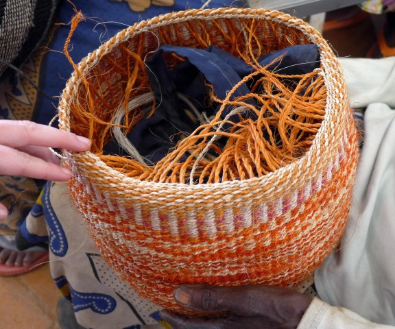 weaving a beautiful basket