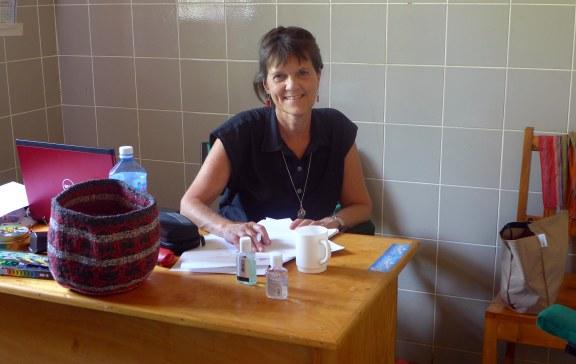 In Lilian's Coulseling office at Nyumbani Village