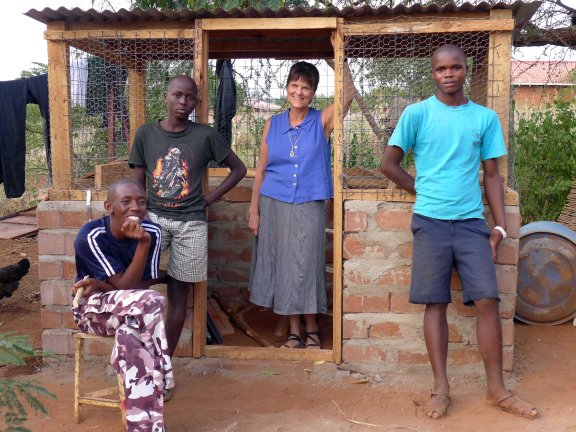 The chicken coop that KEST helped to build
