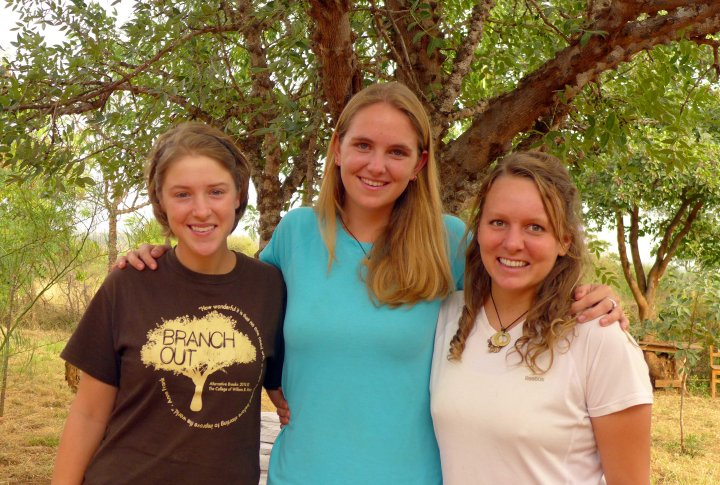Interns Anna, Becky and Ashton