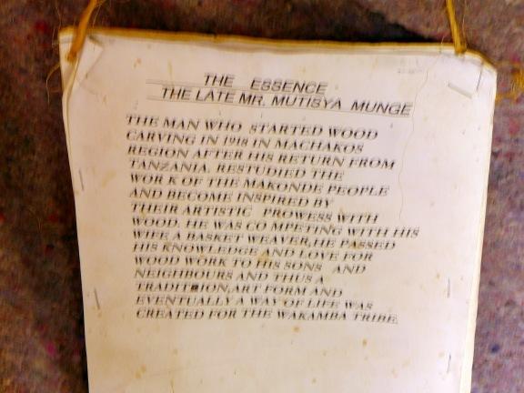 Story of Wamunyu Carvers