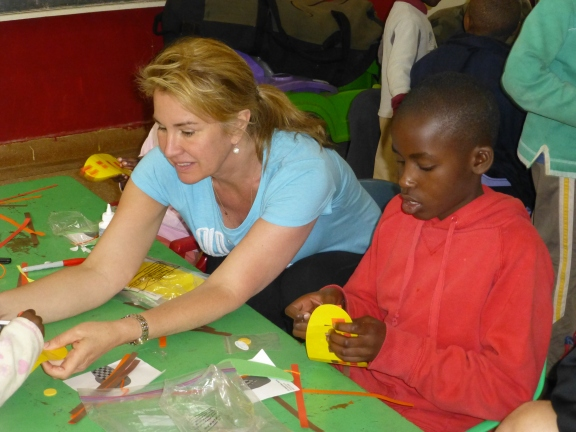 Making projects at Nyumbani Children's Home