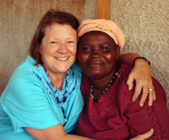 Lloydie and one of the women of Tuko Pamoja