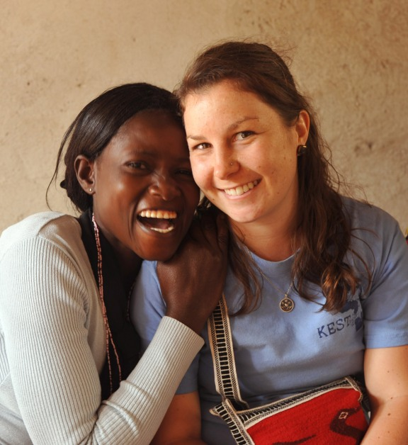 Jen and one of the women of Tuko Pamoja