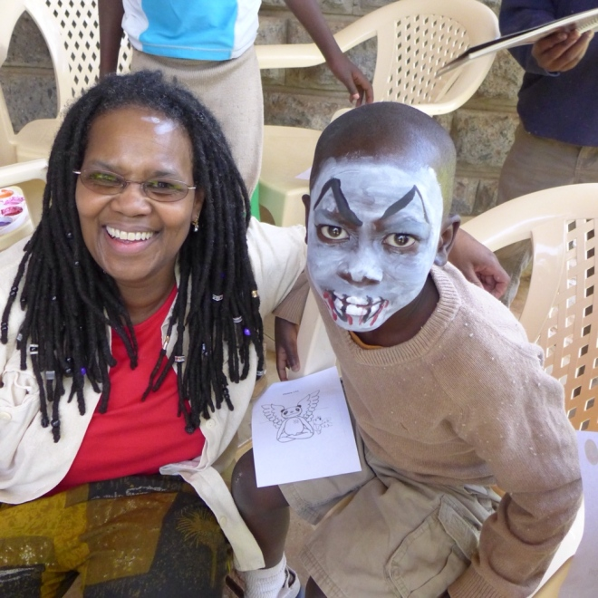 Valeris joined in the face painting last year