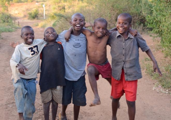 Some fun loving boys at the Village