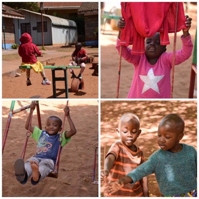 Playing at Nyumbani Children's Home