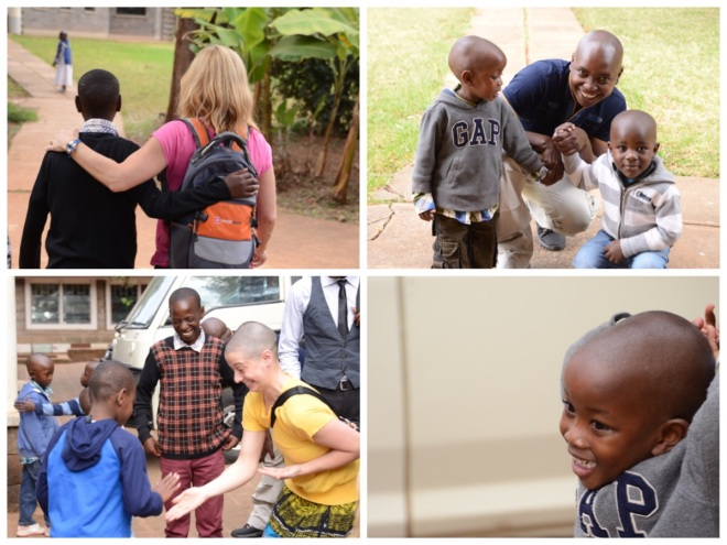 Time with the children at Nyumbani Childen's Home