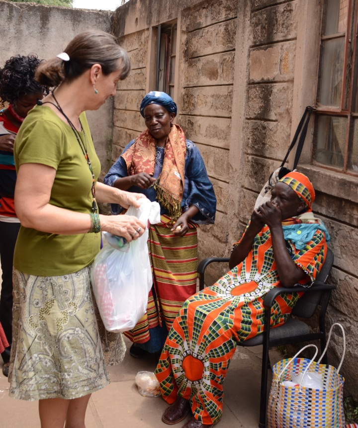 Deb meeting with some of the Vison Self Help Group