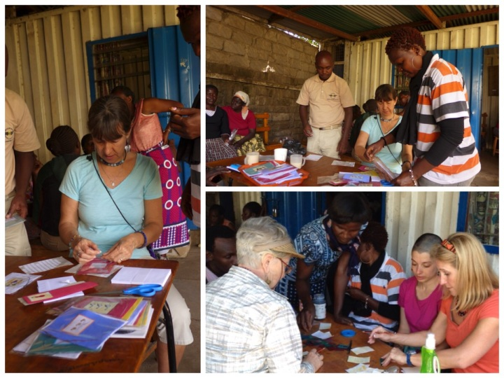 Making cards at Kibera Paper