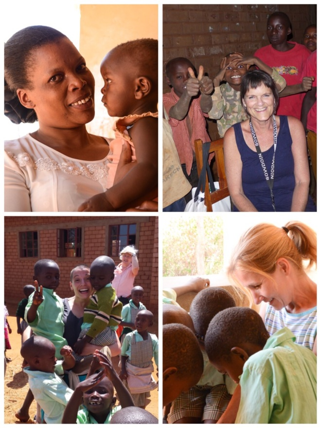 Lilian and the KEST volunteers with the children